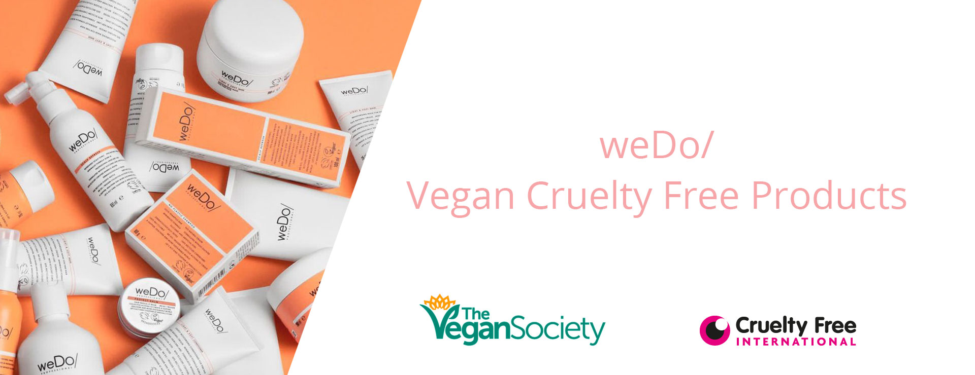 weDo Vegan Cruelty Free Products at avant garde hair salons Worcester & Hereford